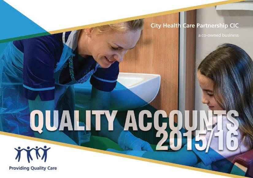 Quality Accounts 2016 cover